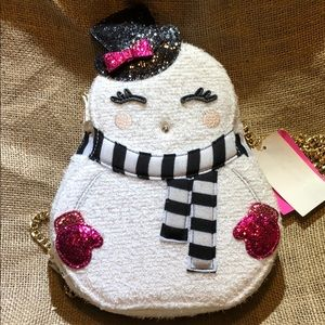 Betsey johnson crossbody snowgal bag w/tags